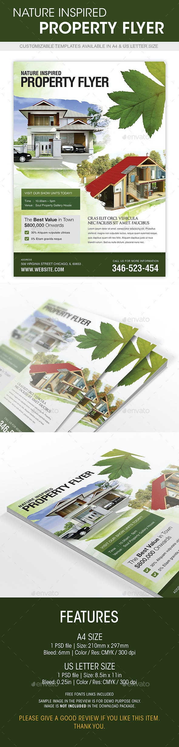 Nature Inspired Property Flyer - Corporate Flyers