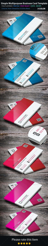 Simple Multipurpose Business Card Template - Business Cards Print Templates