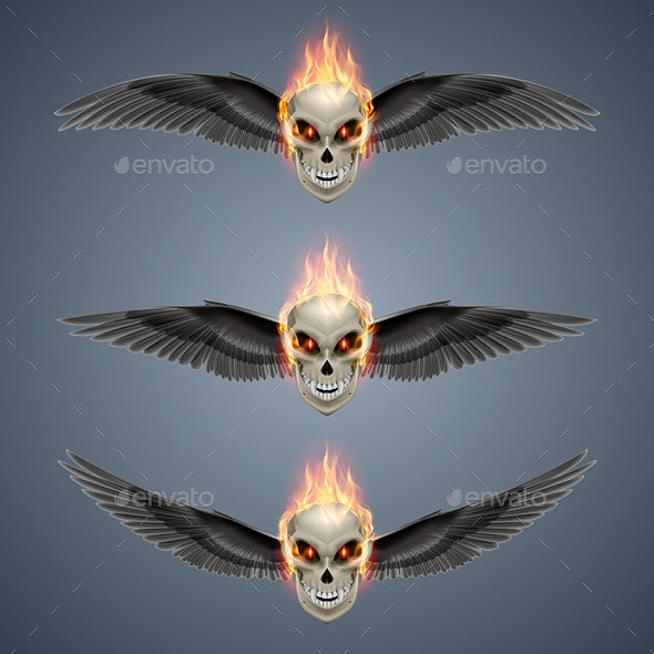 Flaming Mutant Skulls - People Characters