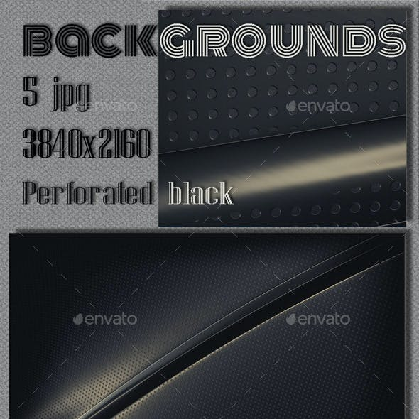Black Metal Perforated Backgrounds