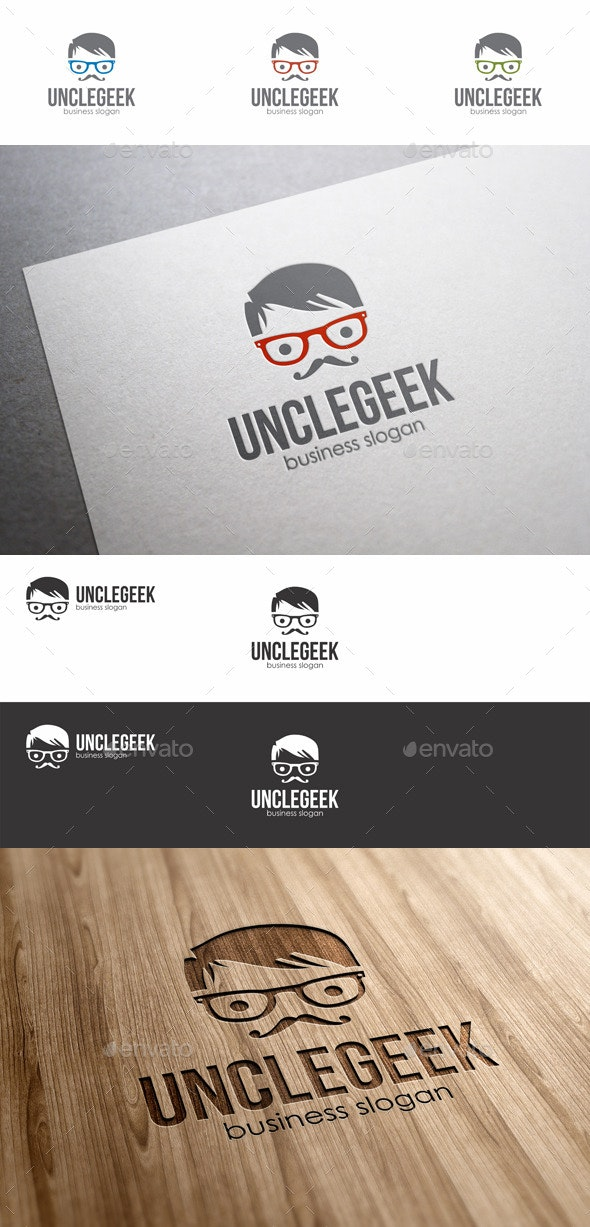 Uncle Geek Logo - Humans Logo Templates