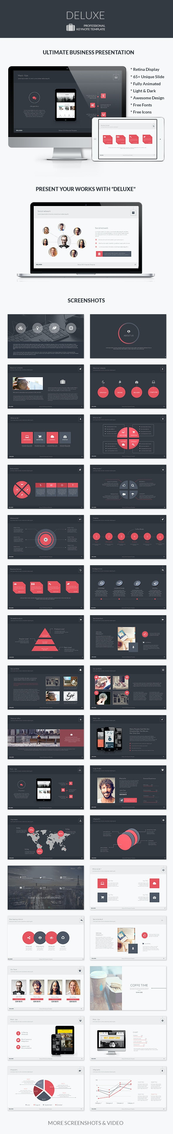 Deluxe |Keynote Business Template - Business Keynote Templates