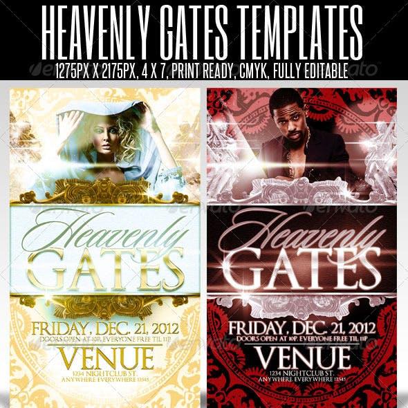 Heavenly Gates Flyer Templates