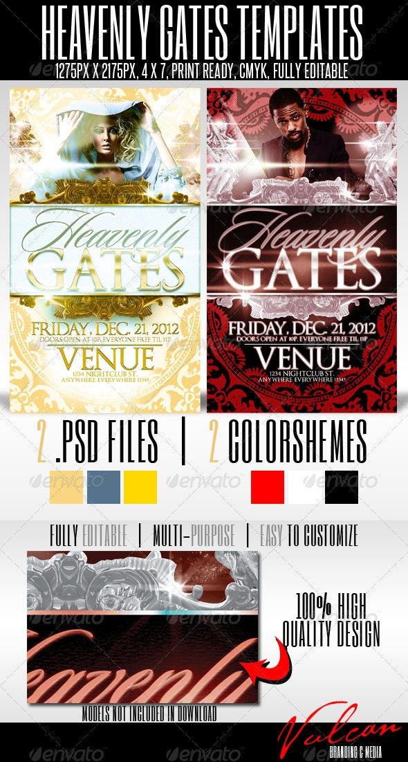 Heavenly Gates Flyer Templates - Clubs & Parties Events