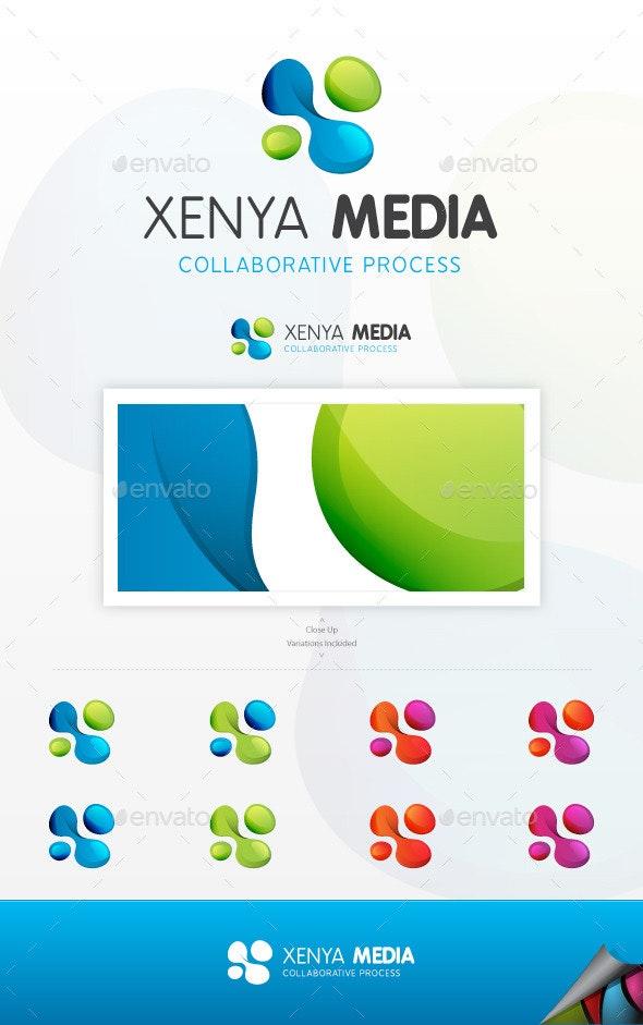 Xenya Media Logo - Letters Logo Templates