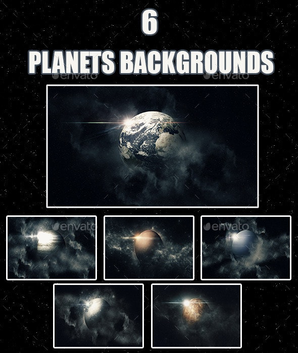 Six Planets Backgrounds - Backgrounds Graphics