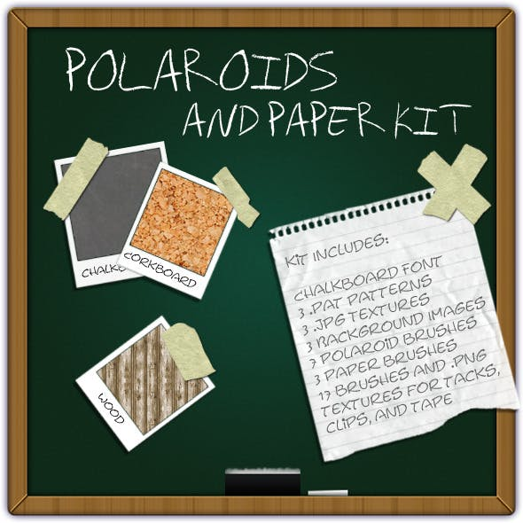 Polaroids & Paper Kit