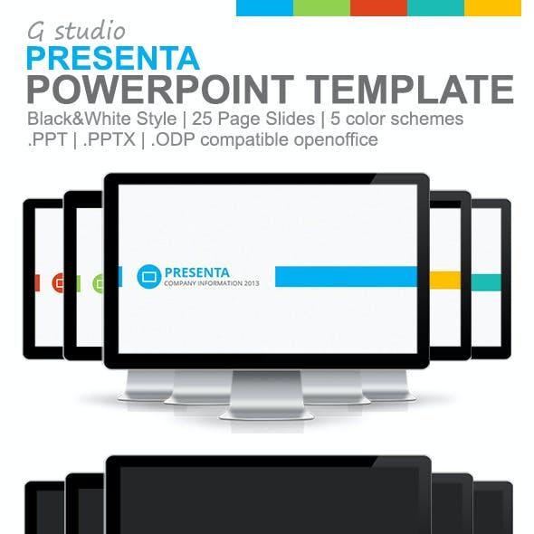 Gstudio Presenta Powerpoint Template