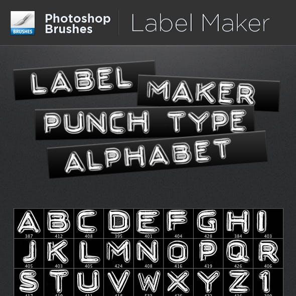 Label Maker Punch Type Alphabet