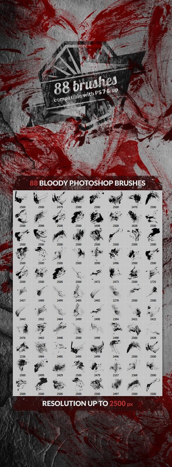 88 Bloody Splatters Photoshop Brushes - Brushes Photoshop