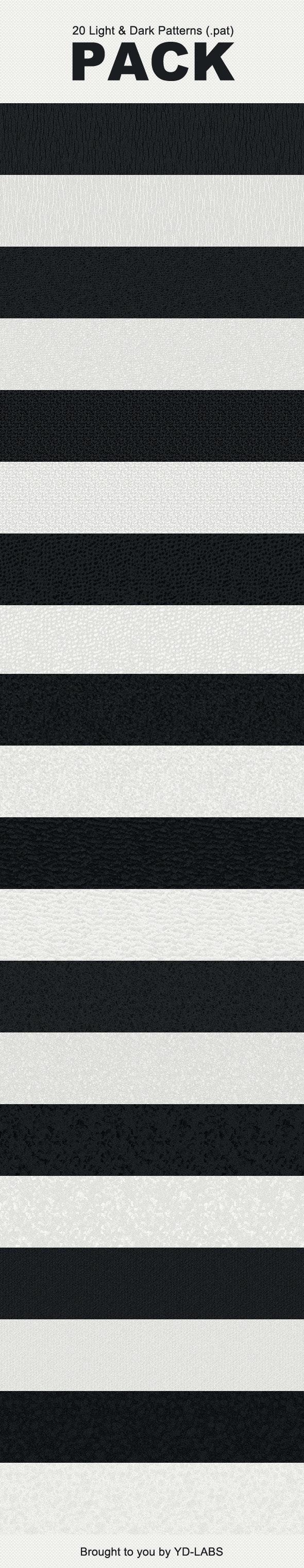 20 Light & Dark Patterns - Textures / Fills / Patterns Photoshop