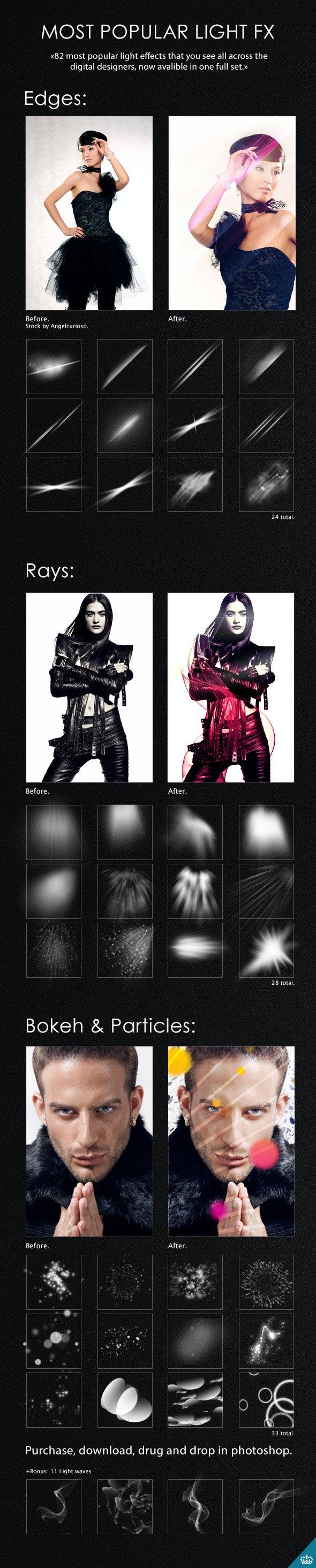 82 Light Effects - Brushes Photoshop