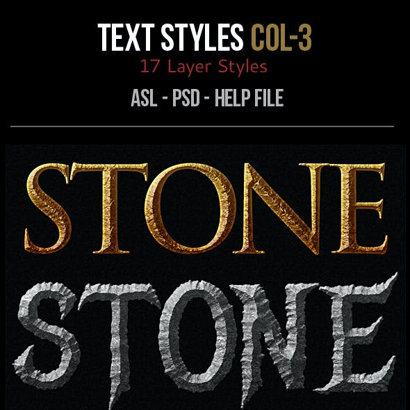 Text Layer Styles -Col 3