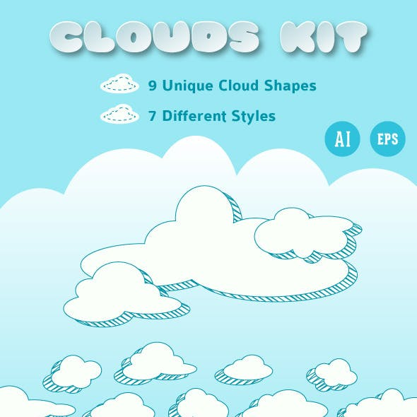 Clouds Vector Collection For Illustrator