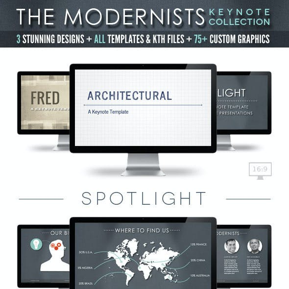 The Modernists Collection - Keynote Templates