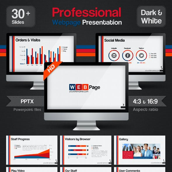 Professional Web Page Presentation