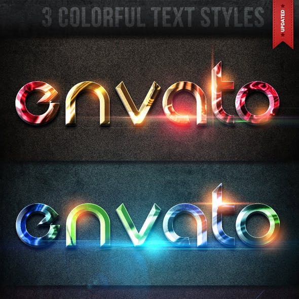 3 Colorful Text Styles