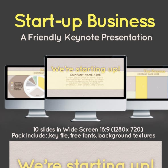 Start Up Business Simple Keynote Presentation