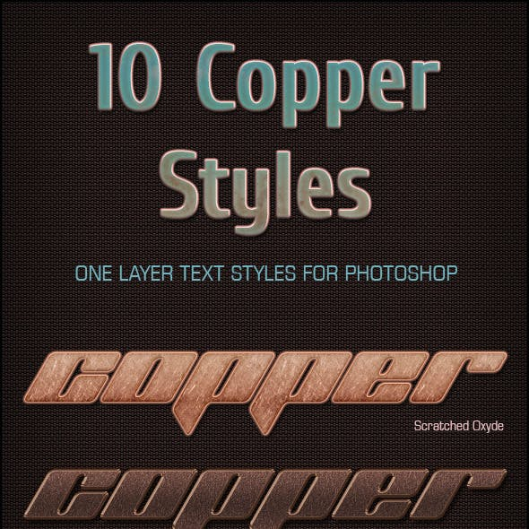 10 Copper Text Styles