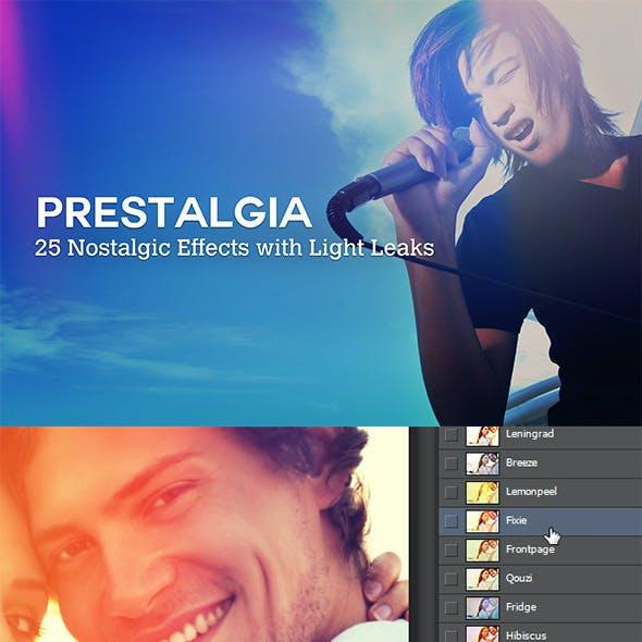 Prestalgia - 25 Retro Effects with Light Leaks