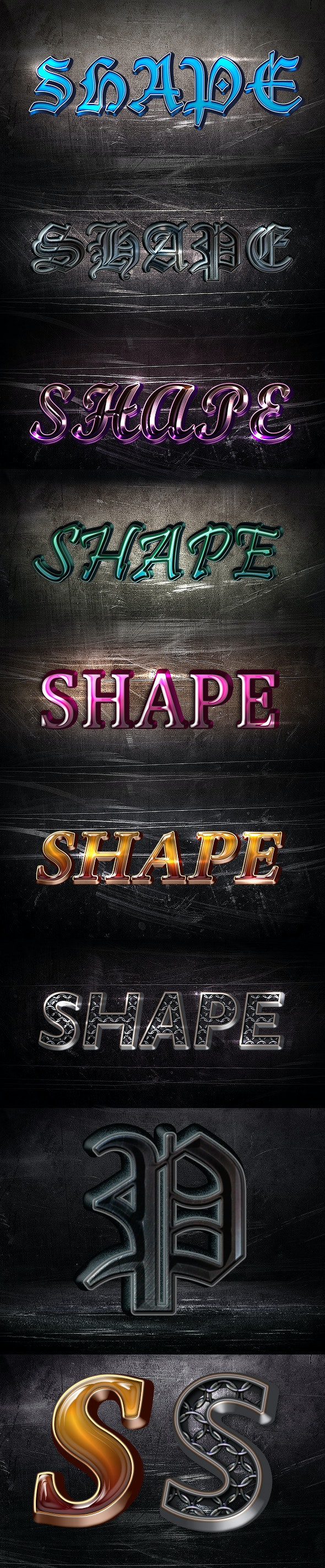 3D Angle Styles - Text Effects Styles