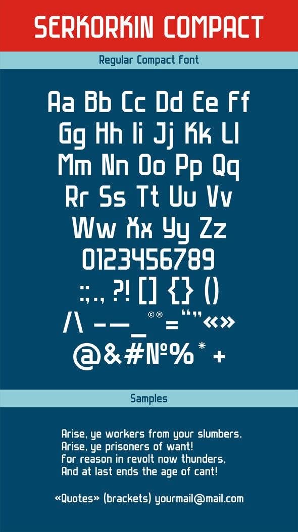 Serkorkin Compact Regular Font - Sans-Serif Fonts