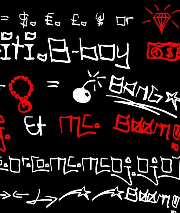 Tag Hand Graffiti Trash - Graffiti Fonts