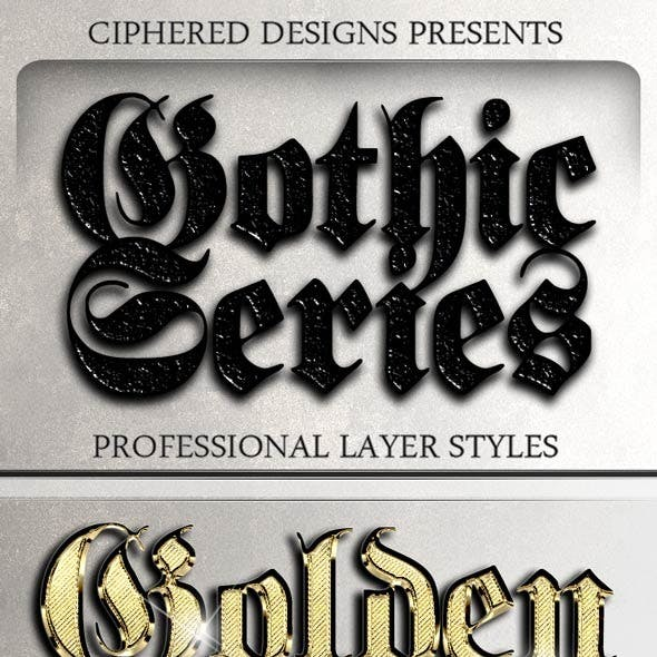 Gothic Series - Professional Layer Styles