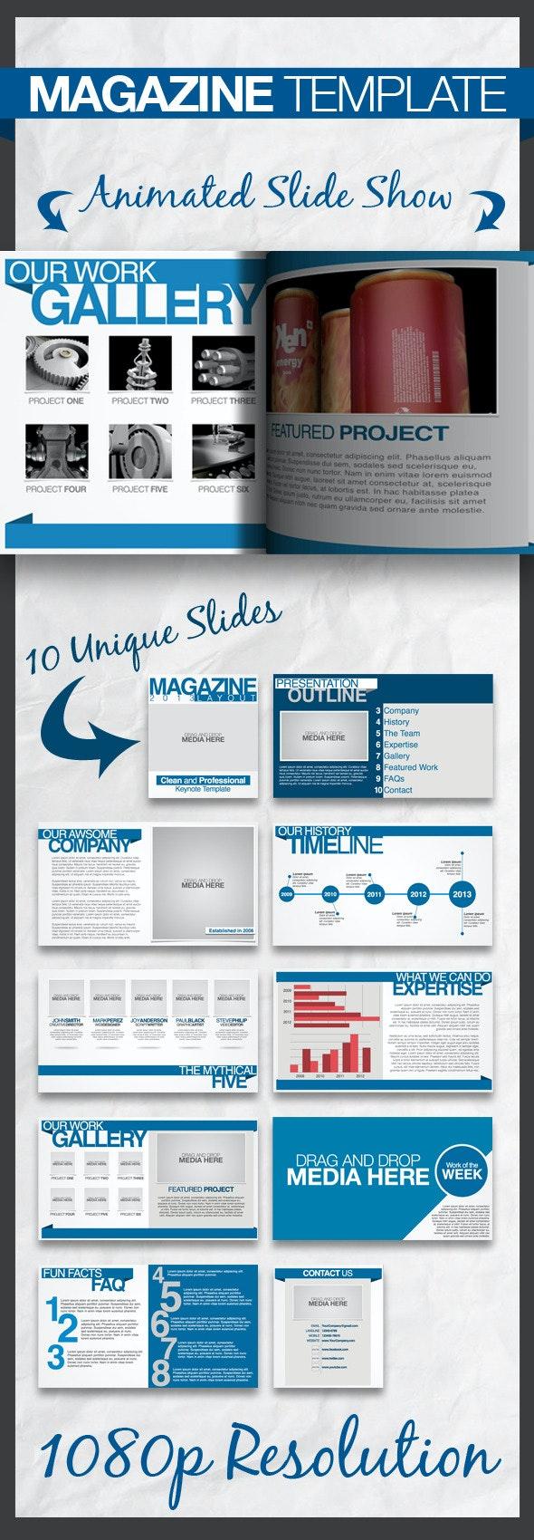 Magazine Keynote Presentation Template - Business Keynote Templates