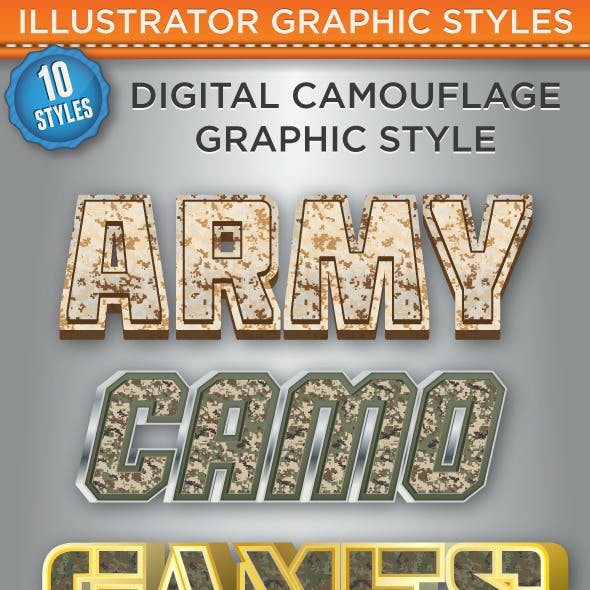 Digital Camouflage Graphic Styles
