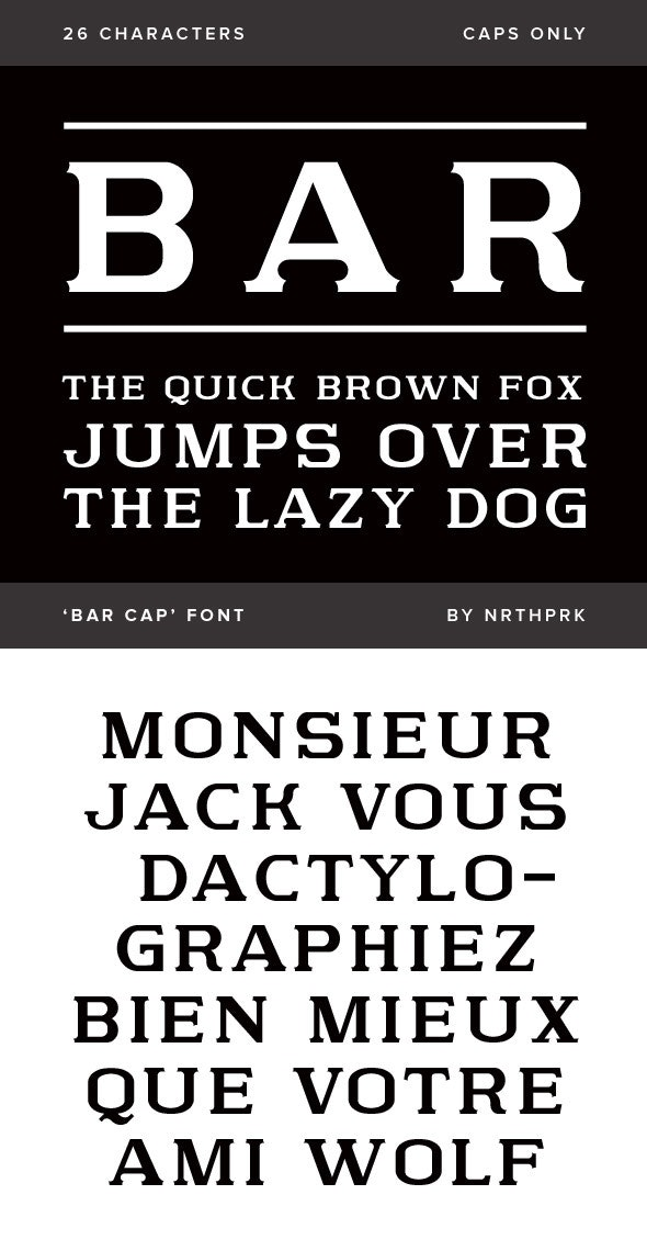 Bar Cap - Serif Fonts