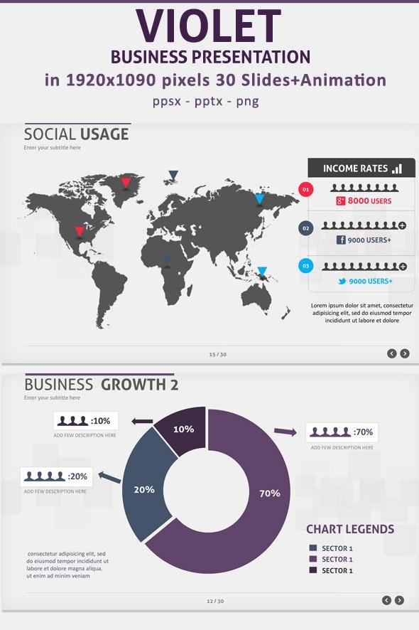 Violet Business presentation - Business PowerPoint Templates