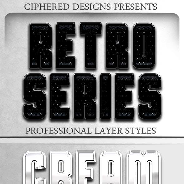 Retro Series - Professional Layer Styles