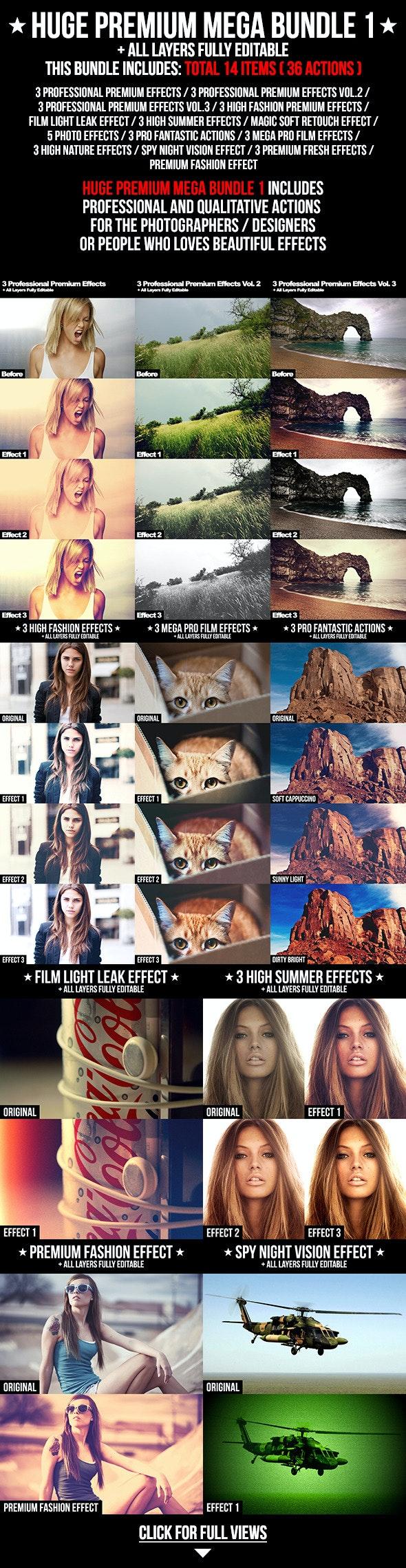 Huge Premium Mega Bundle 1 - Photo Effects Actions