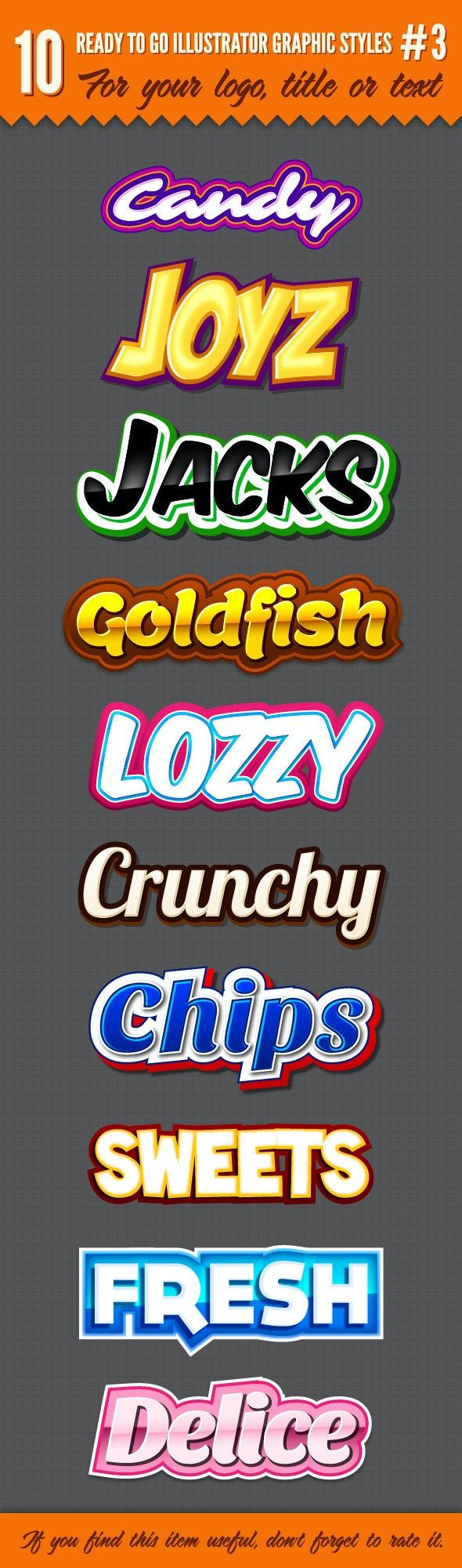 10 Logo Graphic Styles #3 - Styles Illustrator