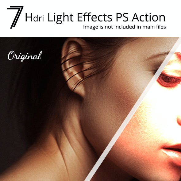 7 HDRI Light Effects PS Action