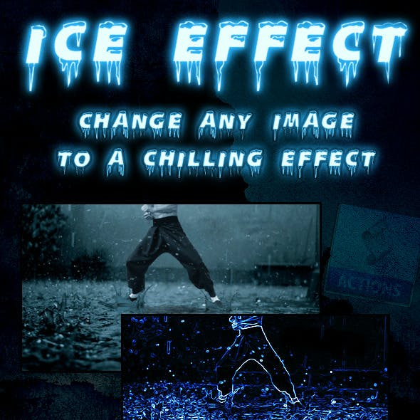 Ice Effect Photoshop Action
