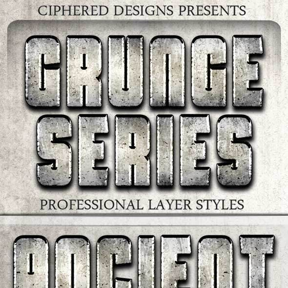 Grunge Series - Professional Layer Styles