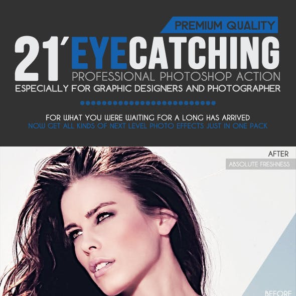 21 Eye Catching Photoshop Actions