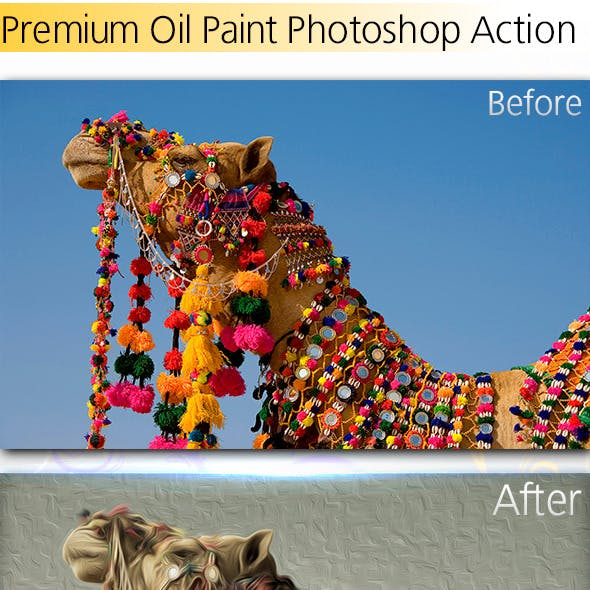 Premium Oil Paint Effect Action