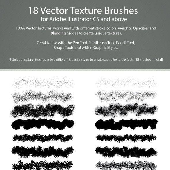 18 Vector Texture Brushes for Adobe Illustrator CS