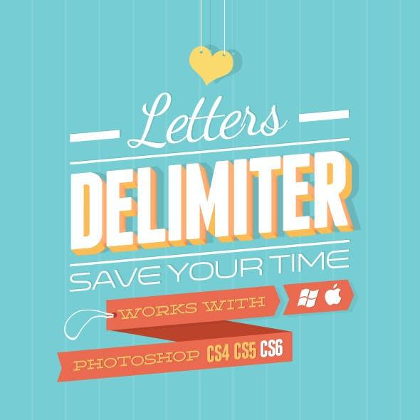 Letters Delimiter
