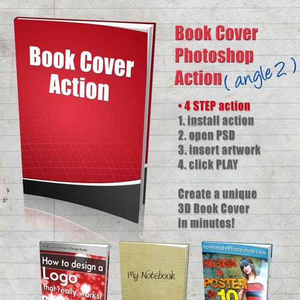 3D Book Cover Action - Angle 2