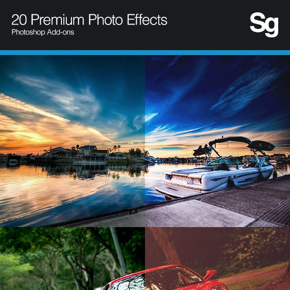 20 Premium Photo Effects