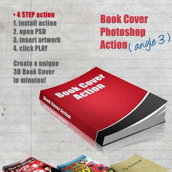 3D Book Cover Action - Angle 3
