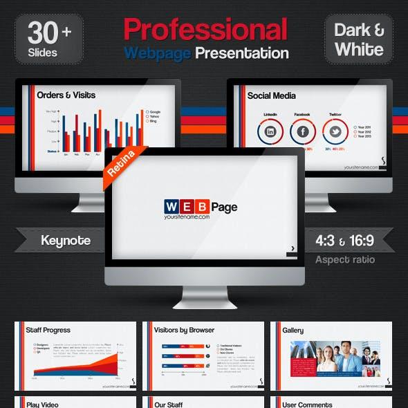 Professional Web Page Presentation Keynote