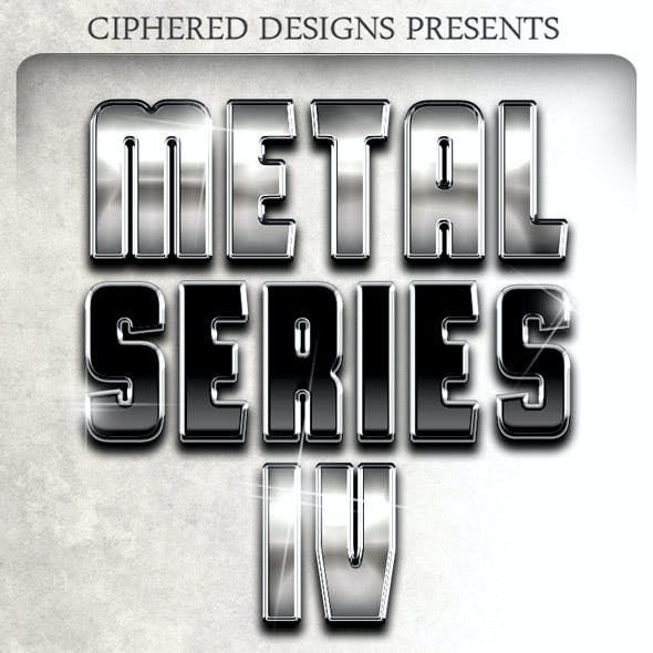 Metal Series IV - Professional Layer Styles
