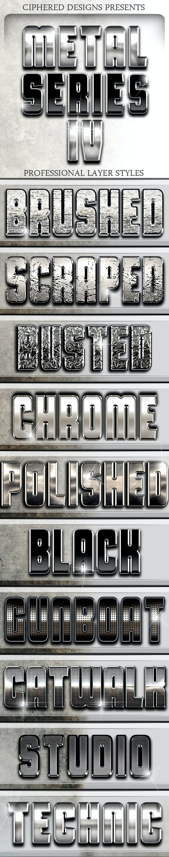 Metal Series IV - Professional Layer Styles - Text Effects Styles