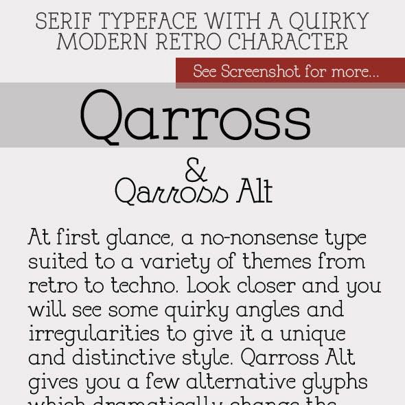 Qarross Modern Serif with Alternates