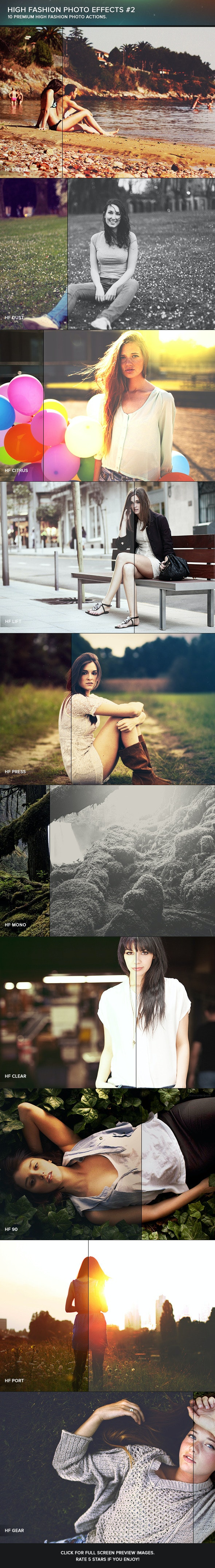 High Fashion Photoshop Actions #2 - Photo Effects Actions